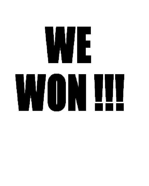 we-won